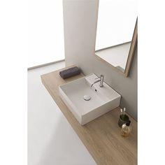 5104 Scarabeo Scarabeo Teorema 2.0 Servant 460x460 mm, med blanderhull, Hvit Bathroom Lighting, Sink, Vanity, Mirror, Furniture, Home Decor, Pictures, Bathroom Light Fittings, Sink Tops