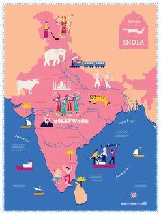 Map of India - Roma Manikhin