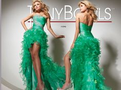 This Dress green with envy!!! Tony Bowls #High-low prom dress #formalapproach