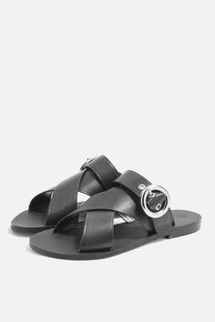 dca97bf6978 Faze Cross Strap Flat Sandals - Shoes