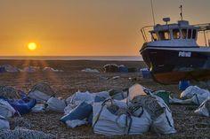 Sunrise at Dungeness. (FYI Sony a6000Sigma 19mm 3 bracket HDR  edited with capture one pro) #dungeness #beach #fishing #coast #kent #england #desert #sunrise #gold #sun #shingle #sony #sonya6000 #sigma #hdr #captureone #every3secondsadonkeycries