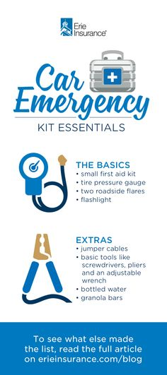 What to Include in a Car Emergency Kit Family Emergency Binder, In Case Of Emergency, Emergency Preparation, Emergency Preparedness, Emergency Kits, Survival Tips, Survival Skills, Erie Insurance, Tire Pressure Gauge