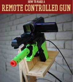 How to Make a Remote Controlled Gun | Tutorial from #survivallife www.survivallife.com