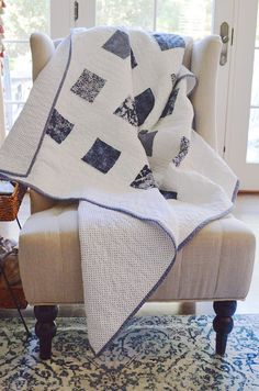 Out of the Blue Quilt TUTORIAL featuring Gerri Robinson's Charming collection.