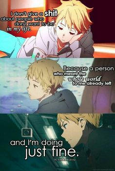 Theres More To Life Than Just Pain And Hatred Sad Anime Quotes