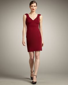 Meredith Sheath Dress by Elie Tahari from Neiman Marcus will be available on Chicks Over 50 in Wild Grape.