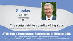 """#BigData - We are Delighted to announce and welcome our #Speaker """"Ian Petty"""" joins the panel at RecunnectLtd's 2nd Big Data and Performance Management in Shipping 2016. Standard Registration now live £950+VAT (3 for the price of 2 - Book 2 delegates and get the third pass complementary) Book at http://www.recunnect.com/events/maritime-events/2nd-big-data-in-shipping-2016/registration/ now to save £50 with voucher code SAR001."""