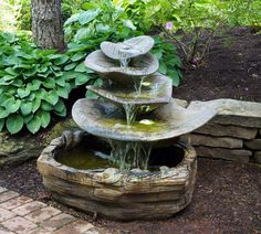 Giant Leaf Garden Fountain