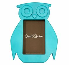Owl Aqua Picture Frame