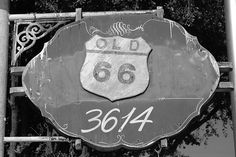 Old Route 66    Sign found in Amarillo, Texas