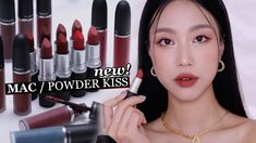 2021 NEW POWDER KISS LIPSTICK / LIQUID LIP COLOR (I bought all colors) |... Make Me Up, How To Make, Lip Colors, All The Colors, Powder, Kiss, Lipstick, Stuff To Buy, Beauty