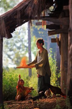 beautiful scene of everyday life, Bali or elsewhere in Southeast Asia