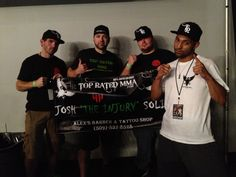 "A little celebration photo of Top Rated MMA sponsored fighter Josh ""The Injury"" Solis after getting a 1st Round TKO win!"