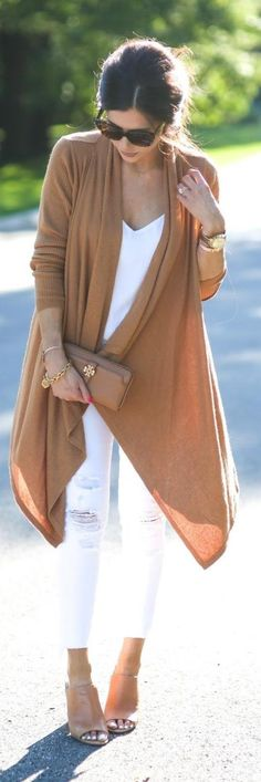 White and Cognac / Fashion By The Sweetest Thing