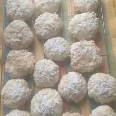 "Easy Sweet Coconut Cookies I ""Holy moly! This is my new favorite cookie. So very delicious and easy. Candy Cookies, No Bake Cookies, Sugar Cookies, All Recipes Cookies, Brownie Recipes, No Bake Desserts, Dessert Recipes, Yummy Recipes, Yummy Food"