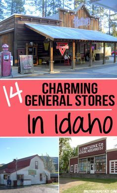 These 14 Charming General Stores In Idaho Will Make You Feel Nostalgic Vacation Trips, Vacation Spots, Vacations, Vacation Rentals, Vacation Ideas, Places To Travel, Places To Go, Idaho Hot Springs, My Own Private Idaho