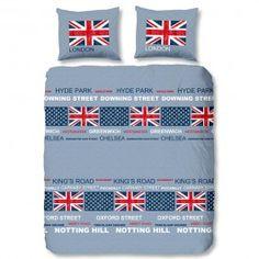 Dekbedovertrek London Blue en  engelse vlag SPECIALE PRIJS, spotgoedkoop onze aanbieding deze week!!! http://40graden.nl/weekdeal.html