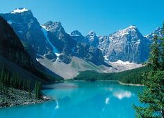 Rocky Mountains, Moraine Lake is my favorite place on earth