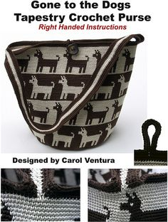 Dog Purse Cover for Righties | by tapestrycrochet