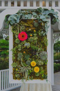 A Garden Party florist - Atlantic City wedding florist - Tatiana Breslow Photography - Stockton Seaview Inn - succulents - gerber daisies - garland - lanterns - candelabra - purple wedding flowers - yellow wedding flowers