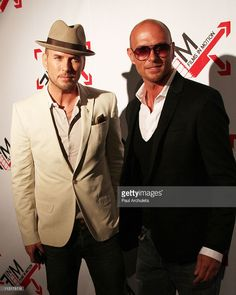 Actors Matt Goss (L) and Luke Goss (R) attend the 'Blood Out' Los Angeles premiere at the Directors Guild Of America on April 25, 2011 in Los Angeles, California.