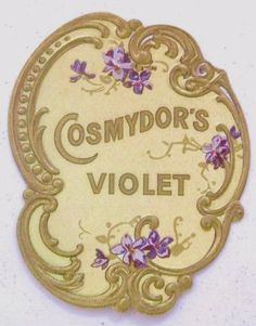 vintage perfume label - found this one is Amsterdam book sale