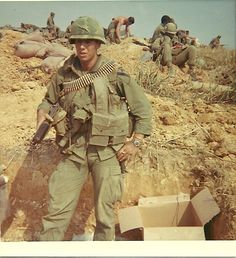 Plt Sgt Fred Ingrassia, 1st Cav 2/5 A Com Getting ready to move out ~ Vietnam War