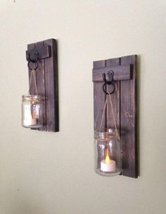 Buy pallets and create autumn decorations from them - decorating ideas-Paletten kaufen und Herbstdeko daraus schaffen – Deko Ideen Make tealight holders from pallets yourself - Rustic Wall Sconces, Rustic Walls, Wooden Walls, Rustic Decor, Rustic Outdoor, Wood Sconce, Country Decor, Wooden Wall Decor, Candle Wall Sconces