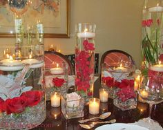 Centerpiece ideas falling to pieces!! :  wedding help centerpieces flowers Red Orchids