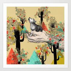 Found You There  Art Print by Sandra Dieckmann