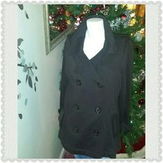 Sale cut...Brown jacket Pea style brown soft coat. Side pockets, 4 functional buttons in the front. Make an offer loves. In good condition Jackets & Coats