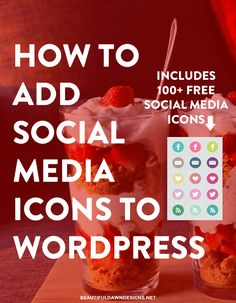 In this tutorial I'll show you how to add social media icons to WordPress. You will have custom social media icons to your blog in minutes.