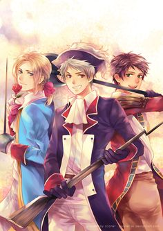 Spain, Prussia and France, Hetalia Fan Art -xx.deviantart.com on @deviantART