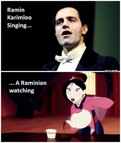 Hahahaha and this is me when ramin sings. :D hahahs so funny :D