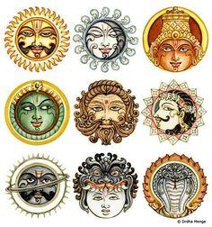Nav graha ..nine planet as per Hindu morphology.