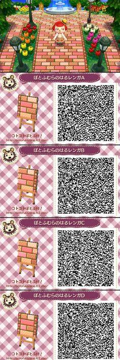 Animal Crossing New Leaf QR codes cute pathway