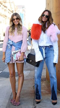 A Luxe Fur Stole or Suede Heels Are Made Daytime Appropriate With Distressed Denim
