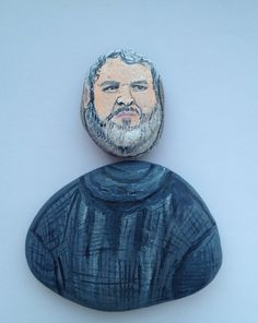 Hodor fridge magnet, painted on stones