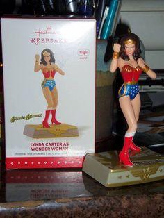 Hallmark Lynda Carter as Wonder Woman Christmas Ornament!