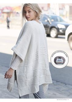 easy knitted wrap by Patons Australia