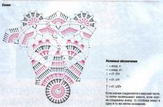 chart for hearts doily      Tecendo Artes em Crochet: Encomenda de 16 Toalhinhas concluída!