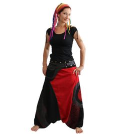 Aladdin pants known as Harem or Afghani trousers are very comfy  ☆  100% cotton…