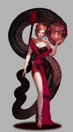 ArtStation - Snake girl ~, 도경 이