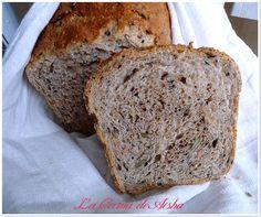 Pan de molde con harina de espelta integral y 6 semillas