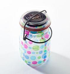 decoupage solar jar