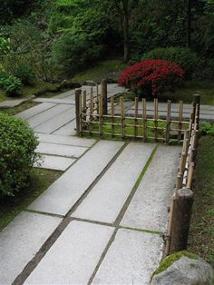 Giant Slabs Of Stone For A Walkway In The Japanese Garden In Portland. My  Hat