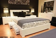Furnish.com.au - Metro Double Bed, High Gloss White, $1,479.00 (http://www.furnish.com.au/bedroom/beds-bed-frames/double-bed-frames/metro-double-bed-high-gloss-white/)