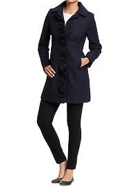 Women's Ruffled Wool-Blend Coats
