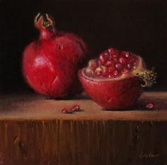 "Daily Paintworks - ""Still Life with Pomegranates"" by Darla McDowell"