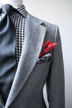 Black Gingham Looks Dapper. Sharp Dressed Man, Well Dressed Men, Look Fashion, Mens Fashion, Fashion Trends, Fashion Ideas, Style Gentleman, Gentleman Fashion, Terno Slim